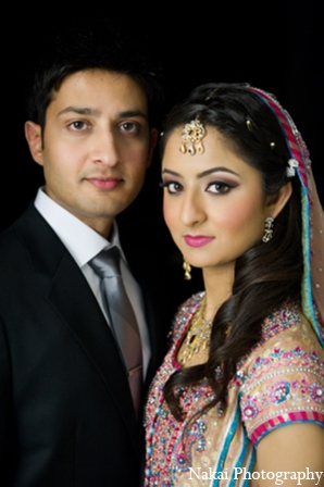 Indian wedding bridal makeup in Chicago, Illinois Pakistani Fusion Wedding by Nakai Photography