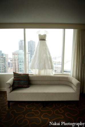 Indian wedding bride gown in Chicago, Illinois Pakistani Fusion Wedding by Nakai Photography