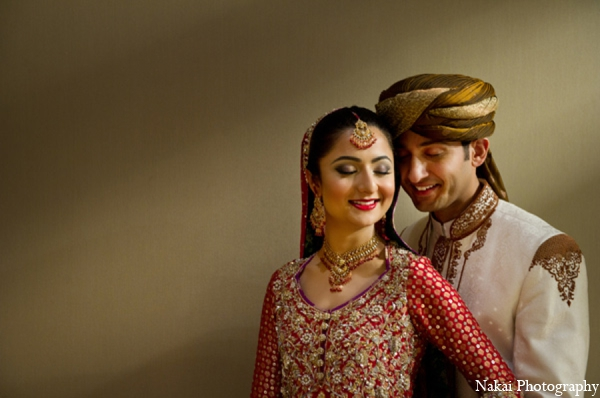Indian wedding bride groom in Chicago, Illinois Pakistani Fusion Wedding by Nakai Photography