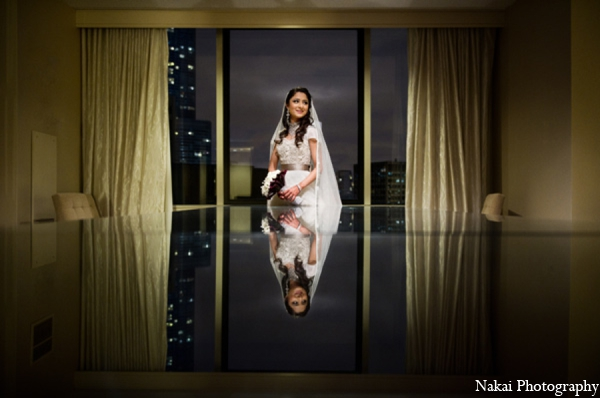 Indian wedding bride portrait in Chicago, Illinois Pakistani Fusion Wedding by Nakai Photography