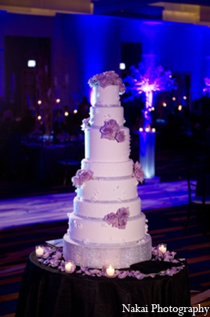 Indian wedding cakes in Chicago, Illinois Pakistani Fusion Wedding by Nakai Photography