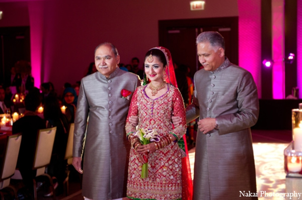 Indian wedding ceremony bride in Chicago, Illinois Pakistani Fusion Wedding by Nakai Photography