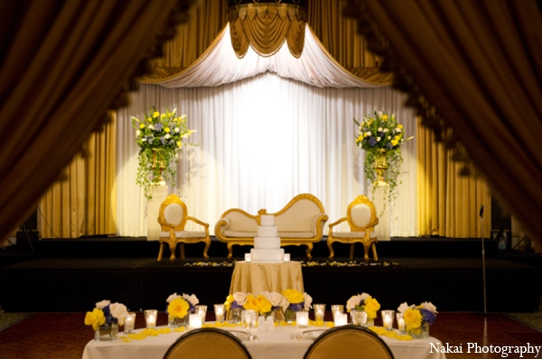 Indian wedding decor design in Chicago, Illinois Pakistani Fusion Wedding by Nakai Photography