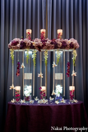 Indian wedding floral design in Chicago, Illinois Pakistani Fusion Wedding by Nakai Photography