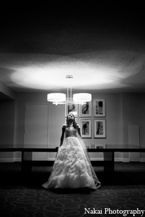 Indian wedding gown pictures in Chicago, Illinois Pakistani Fusion Wedding by Nakai Photography