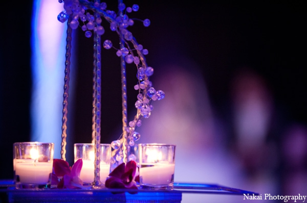 Indian wedding lighting accents in Chicago, Illinois Pakistani Fusion Wedding by Nakai Photography
