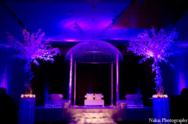Indian wedding lighting design in Chicago, Illinois Pakistani Fusion Wedding by Nakai Photography