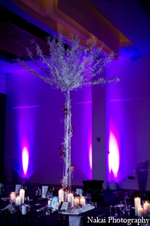 Indian wedding modern floral in Chicago, Illinois Pakistani Fusion Wedding by Nakai Photography