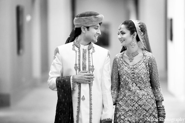 Indian wedding portrait ideas in Chicago, Illinois Pakistani Fusion Wedding by Nakai Photography