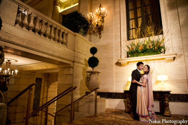 Indian wedding portraits bride groom in Chicago, Illinois Pakistani Fusion Wedding by Nakai Photography