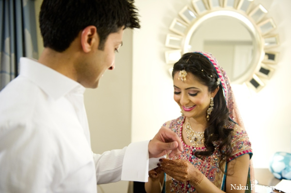 Indian wedding reception outfits in Chicago, Illinois Pakistani Fusion Wedding by Nakai Photography