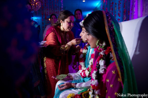 Indian wedding sangeet traditions in Chicago, Illinois Pakistani Fusion Wedding by Nakai Photography