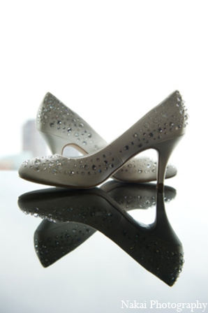 Indian wedding shoes in Chicago, Illinois Pakistani Fusion Wedding by Nakai Photography