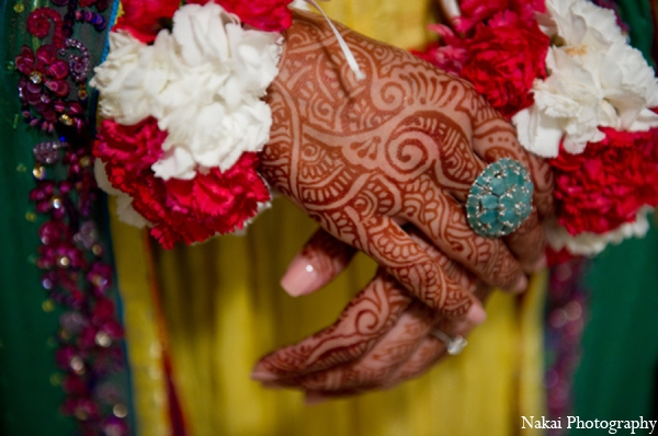 Indian wedding traditional mehndi designs in Chicago, Illinois Pakistani Fusion Wedding by Nakai Photography