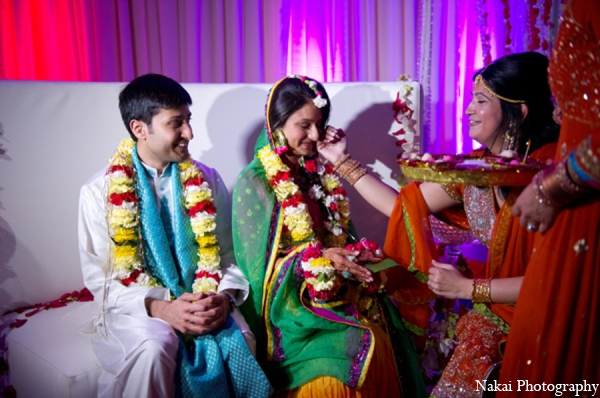 Featured Indian Weddings,red,hot pink,white,green,traditional indian wedding,indian wedding traditions,indian wedding wear,Nakai Photography