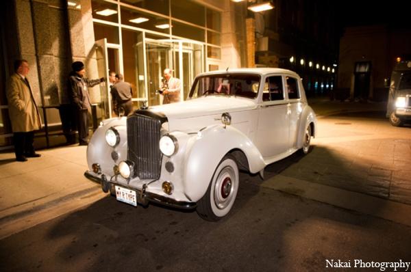 Indian wedding transportation in Chicago, Illinois Pakistani Fusion Wedding by Nakai Photography