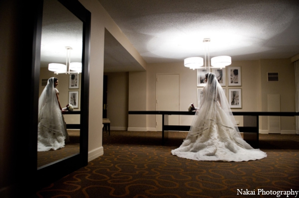 Indian wedding white ball gown in Chicago, Illinois Pakistani Fusion Wedding by Nakai Photography