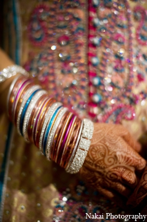 Traditional indian wedding bangles in Chicago, Illinois Pakistani Fusion Wedding by Nakai Photography