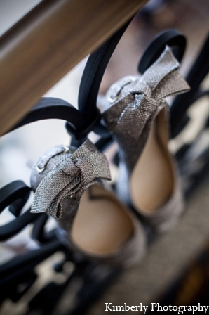 Indian bridal shoes silver in Tampa, Florida Pakistani Wedding by Kimberly Photography