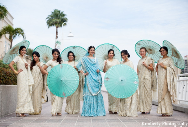 Indian wedding bridal party ideas in Tampa, Florida Pakistani Wedding by Kimberly Photography