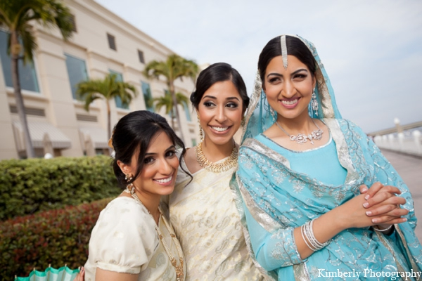 Indian wedding bridal party outfits in Tampa, Florida Pakistani Wedding by Kimberly Photography