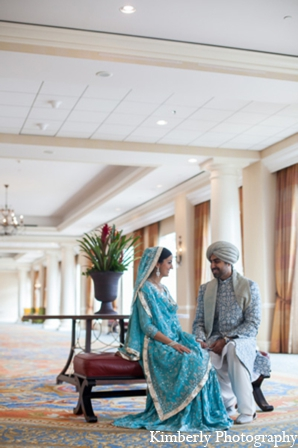 Indian wedding bride groom portraits in Tampa, Florida Pakistani Wedding by Kimberly Photography