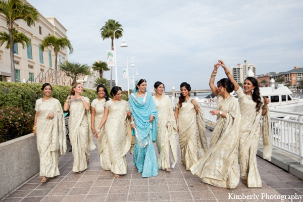 Indian wedding bridesmaids dresses in Tampa, Florida Pakistani Wedding by Kimberly Photography