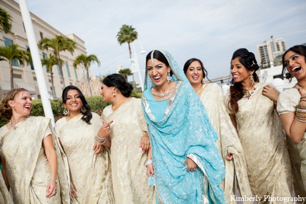 Indian wedding bridesmaids outfits in Tampa, Florida Pakistani Wedding by Kimberly Photography
