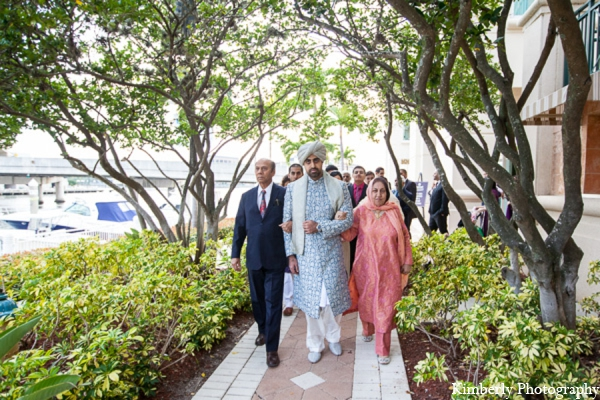 Indian wedding groom family arrive in Tampa, Florida Pakistani Wedding by Kimberly Photography