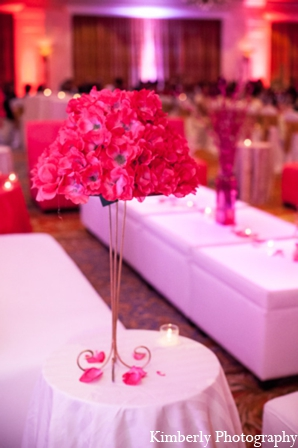 Indian wedding modern reception floral in Tampa, Florida Pakistani Wedding by Kimberly Photography