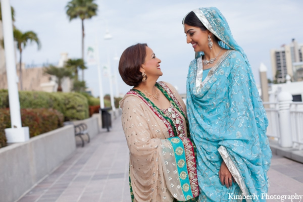 Indian wedding mother of bride dress in Tampa, Florida Pakistani Wedding by Kimberly Photography