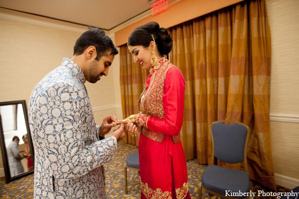 Indian wedding reception couple in Tampa, Florida Pakistani Wedding by Kimberly Photography