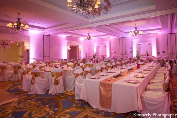 Indian wedding reception lighting decor in Tampa, Florida Pakistani Wedding by Kimberly Photography