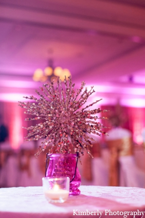 Indian wedding reception modern decor in Tampa, Florida Pakistani Wedding by Kimberly Photography