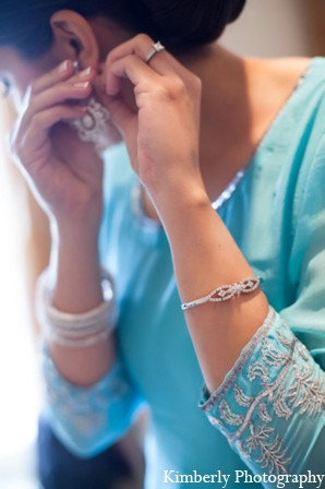 Indian wedding traditional bridal jewelry in Tampa, Florida Pakistani Wedding by Kimberly Photography
