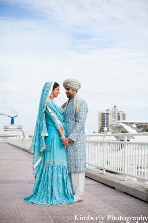 Indian wedding traditional couple in Tampa, Florida Pakistani Wedding by Kimberly Photography