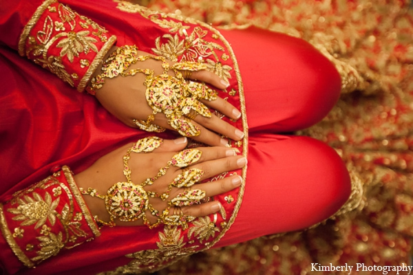 Indian wedding traditional jewelry in Tampa, Florida Pakistani Wedding by Kimberly Photography