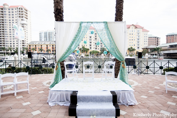 Indian wedding traditional mandap in Tampa, Florida Pakistani Wedding by Kimberly Photography