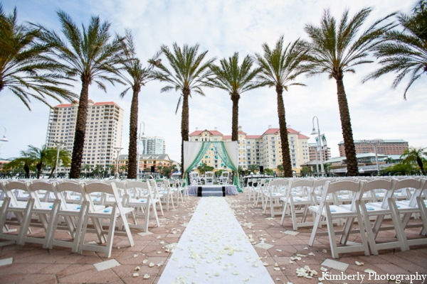 Indian wedding traditional outdoor mandap in Tampa, Florida Pakistani Wedding by Kimberly Photography