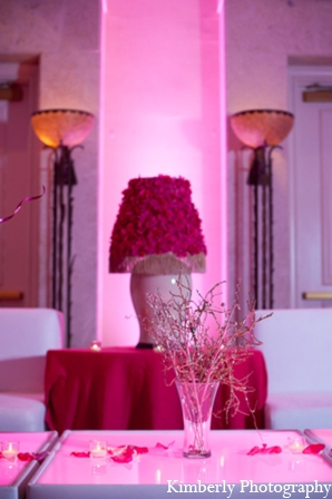 Modern indian wedding reception decor in Tampa, Florida Pakistani Wedding by Kimberly Photography
