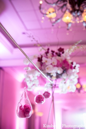 Modern wedding reception floral in Tampa, Florida Pakistani Wedding by Kimberly Photography