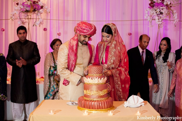 Pakistani wedding bride groom cake in Tampa, Florida Pakistani Wedding by Kimberly Photography