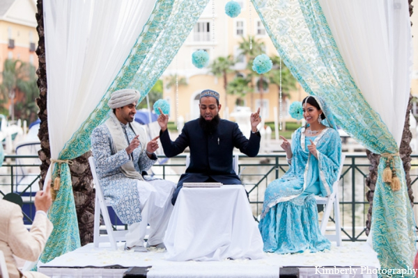 white,silver,light blue,blue,ceremony,traditional indian wedding,indian wedding traditions,Kimberly Photography