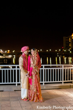 Pakistani wedding reception bride groom in Tampa, Florida Pakistani Wedding by Kimberly Photography