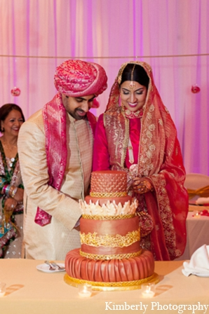 Pakistani wedding reception cake in Tampa, Florida Pakistani Wedding by Kimberly Photography