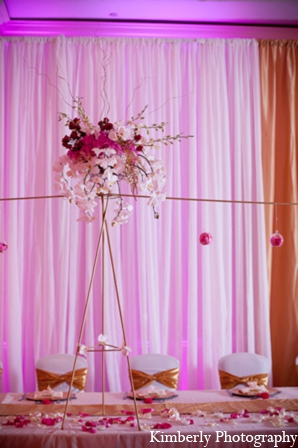 Pakistani wedding reception decor in Tampa, Florida Pakistani Wedding by Kimberly Photography