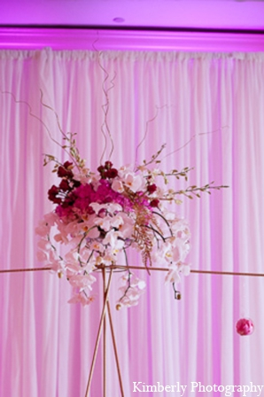 Pakistani wedding reception floral in Tampa, Florida Pakistani Wedding by Kimberly Photography