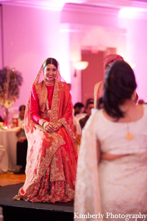Traditional pakistani bride reception outfit in Tampa, Florida Pakistani Wedding by Kimberly Photography