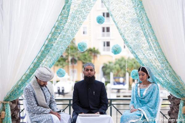 Traditional pakistani mandap in Tampa, Florida Pakistani Wedding by Kimberly Photography