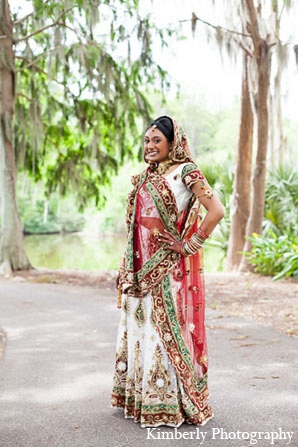 Indian wedding bridal fashion portraits lengha in Palm Harbor, Florida Indian Wedding by Kimberly Photography
